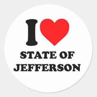 I love state of Jefferson Classic Round Sticker