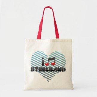 I Love Steelband Tote Bag