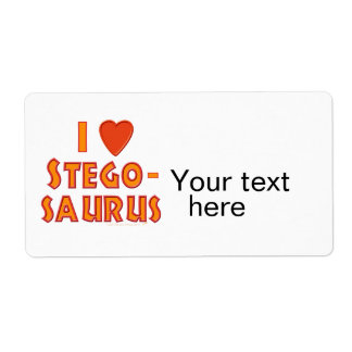 I Love Stegosaurus Dinosaur Lovers Shipping Labels