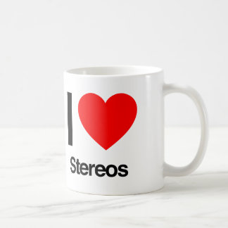 i love stereos mug