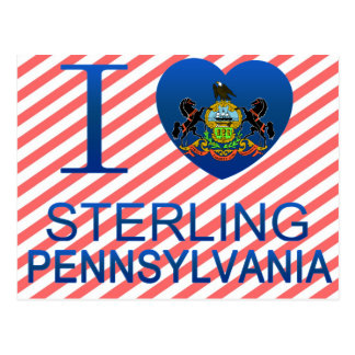 I Love Sterling, PA Postcard