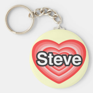I love Steve. I love you Steve. Heart Keychain