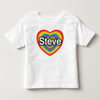 I love Steve. I love you Steve. Heart Toddler T-shirt