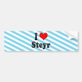 I Love Steyr, Austria. Ich Liebe Steyr, Austria Bumper Sticker