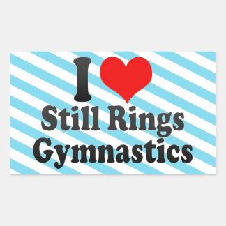 I love Still Rings Gymnastics Sticker