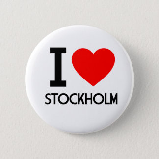 I Love Stockholm 2 Inch Round Button