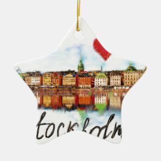 I love Stockholm Ceramic Star Ornament