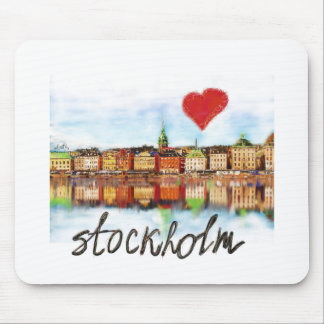 I love Stockholm Mouse Pad
