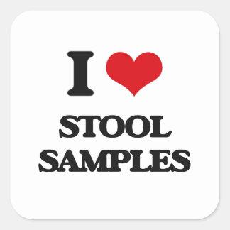 I love Stool Samples Square Sticker