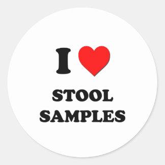 I love Stool Samples Round Sticker