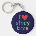 I Love Storytime T-Shirts & Gifts Keychain
