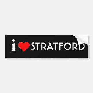 I Love Stratford Bumper Sticker