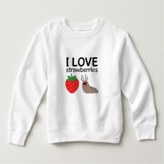 I Love Strawberries Illustration Sweatshirt