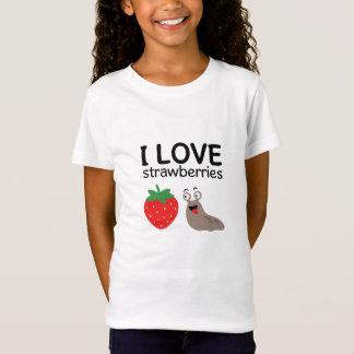 I Love Strawberries Illustration T-Shirt