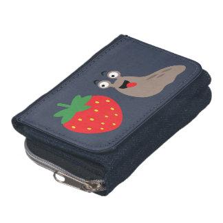 I Love Strawberries Illustration Wallet
