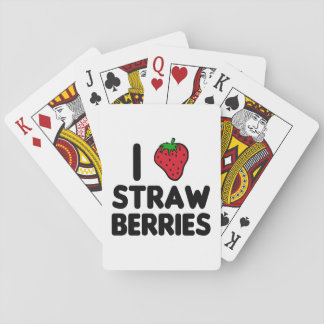 I Love Strawberries Playing Cards