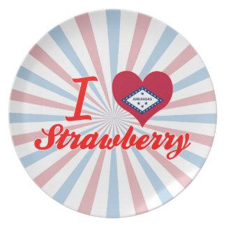 I Love Strawberry, Arkansas Dinner Plates