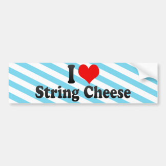 I Love String Cheese Bumper Sticker