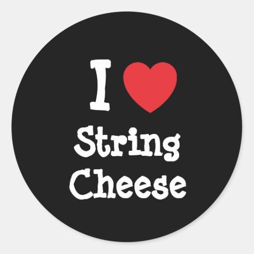 I love String Cheese heart T-Shirt Sticker