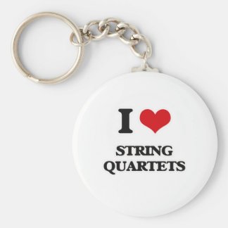 I Love String Quartets Keychain