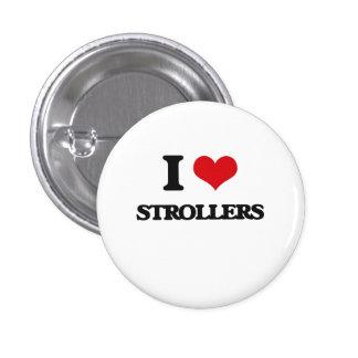 I Love Strollers 1 Inch Round Button