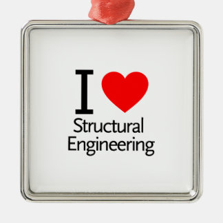 I Love Structural Engineering Metal Ornament
