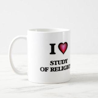 I Love Study Of Religion Coffee Mug