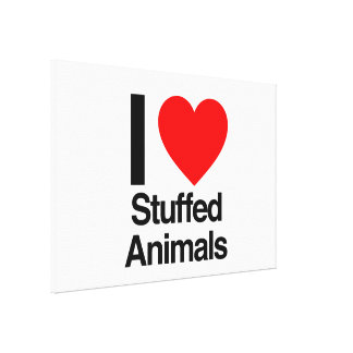 i love stuffed animals gallery wrap canvas