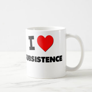 I love Subsistence Coffee Mug