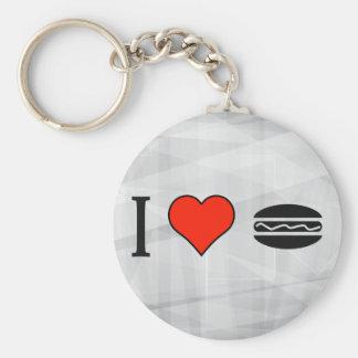 I Love Subway Diner Basic Round Button Keychain