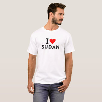 I love Sudan country like heart travel tourism T-Shirt
