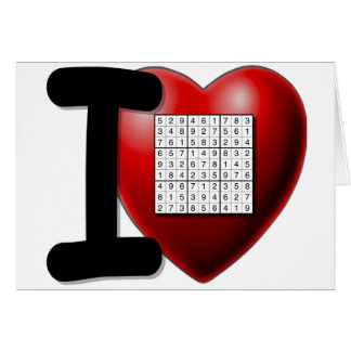 I Love Sudoku Card