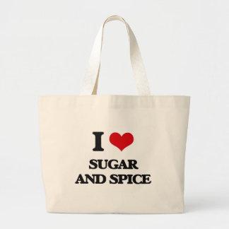 I love Sugar And Spice Jumbo Tote Bag