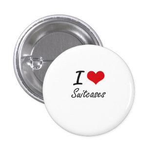 I love Suitcases 1 Inch Round Button