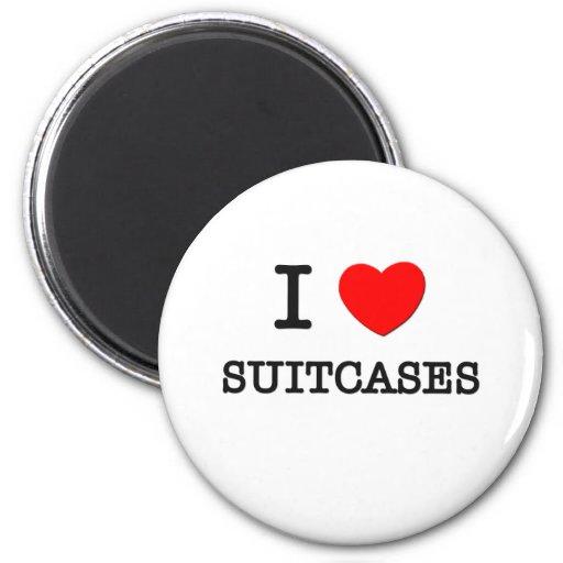 I Love Suitcases Fridge Magnet