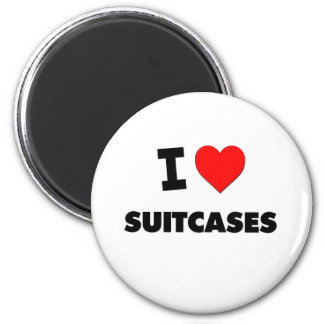 I love Suitcases Refrigerator Magnet