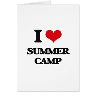 I love Summer Camp Card