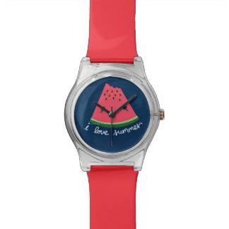 I Love Summer Cute Watermelon Watch