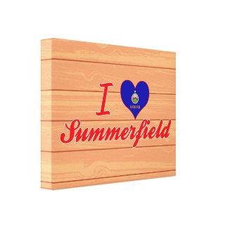 I Love Summerfield, Kansas Stretched Canvas Print