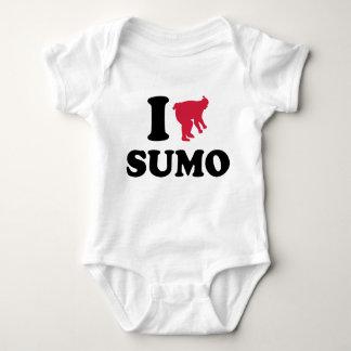 I love Sumo wrestling sports Baby Bodysuit