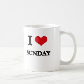 I love Sunday Coffee Mug