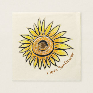 I love Sunflower Disposable Napkins