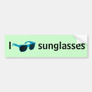 I love sunglasses bumper sticker