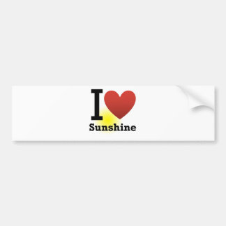 I Love Sunshine Bumper Sticker