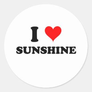 I Love Sunshine Classic Round Sticker