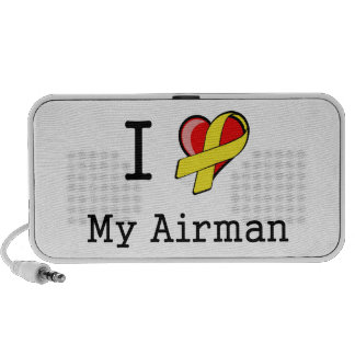 I Love & Support My Airman Doodle Travelling Speaker