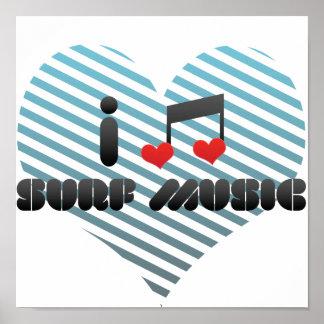 I Love Surf Music Print