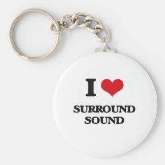 I Love Surround Sound Keychain