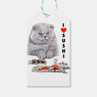 I LOVE SUSHI GIFT TAGS