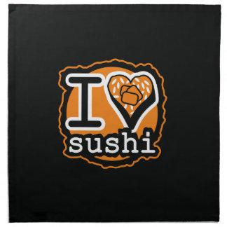 I love sushi Japanese food gastronomy Napkin